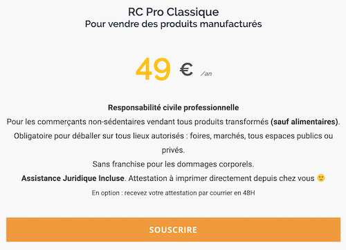 Assurance Resposabilité civile 49€/an