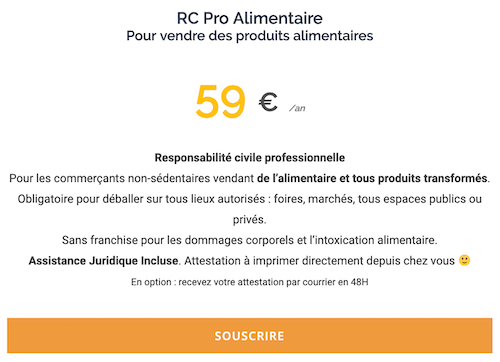 Assurance Resposabilité civile 59€/an